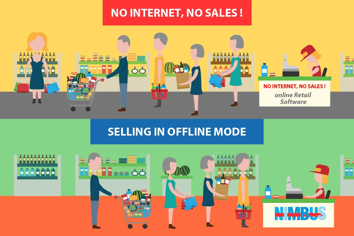 Sales without Internet-Nimbus offline Mode
