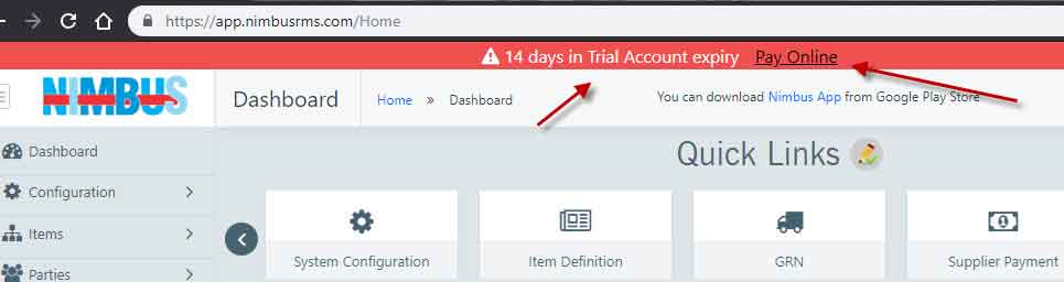 converting trial account into regular account