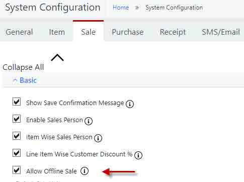 sales without internet-Offline-mode-configuration-in-Nimbus
