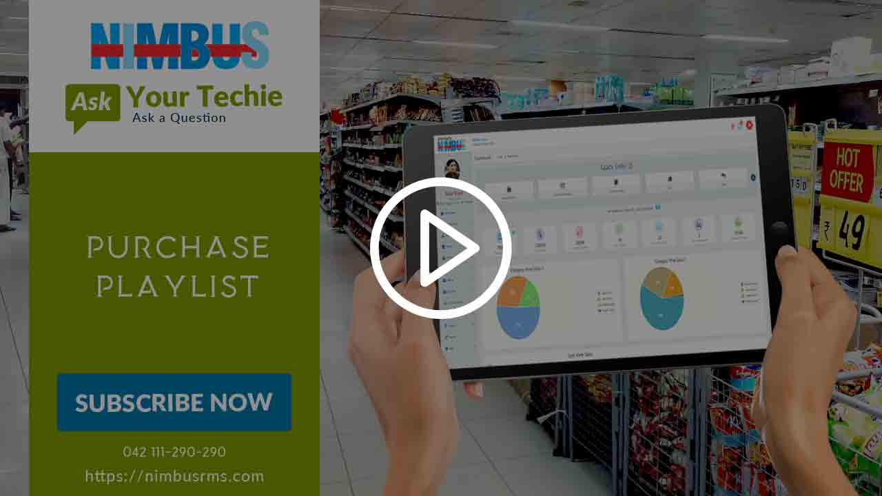 How to operate Purchase screen in Cloud POS software
