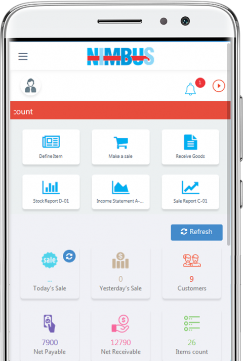 Online pos on mobile