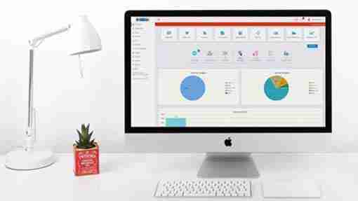 Online retail software dash board
